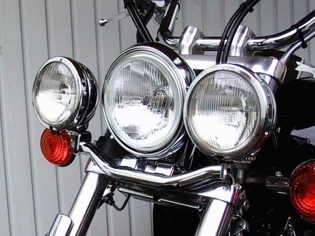 Fehling フェーリング エンジンカバー ライトバー 後付ヘッドライト用  DRAGSTAR1100 [ドラッグスター]