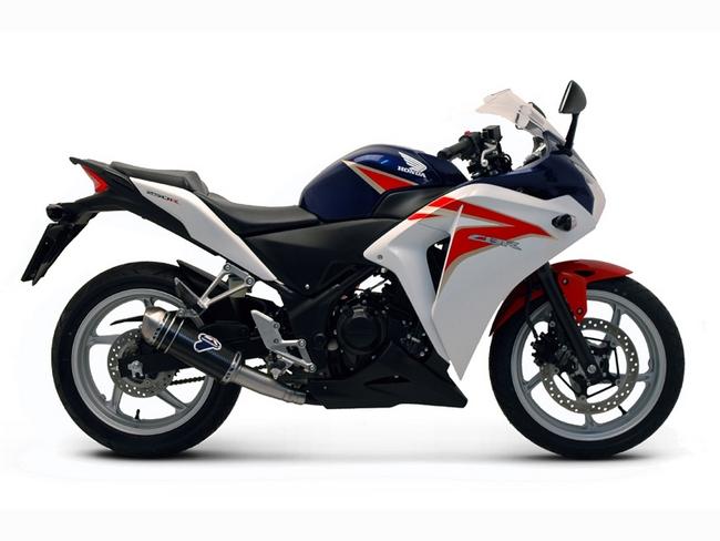 TERMIGNONI テルミニョーニ スリップオンマフラー 1サイレンサー サイレンサーエンド材質:カーボン(レーシング+バッフル) CBR250R (MC41)