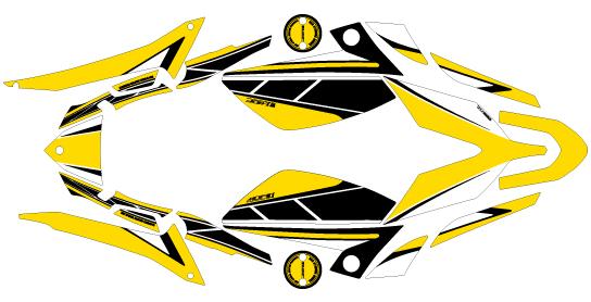 【ポイント5倍開催中!!】【クーポンが使える!】 MDF エムディーエフ ステッカー・デカール 車種別グラフィックデカールキット TMAX530 ストロボ タイプ:コンプリート(フルセット) TMAX530