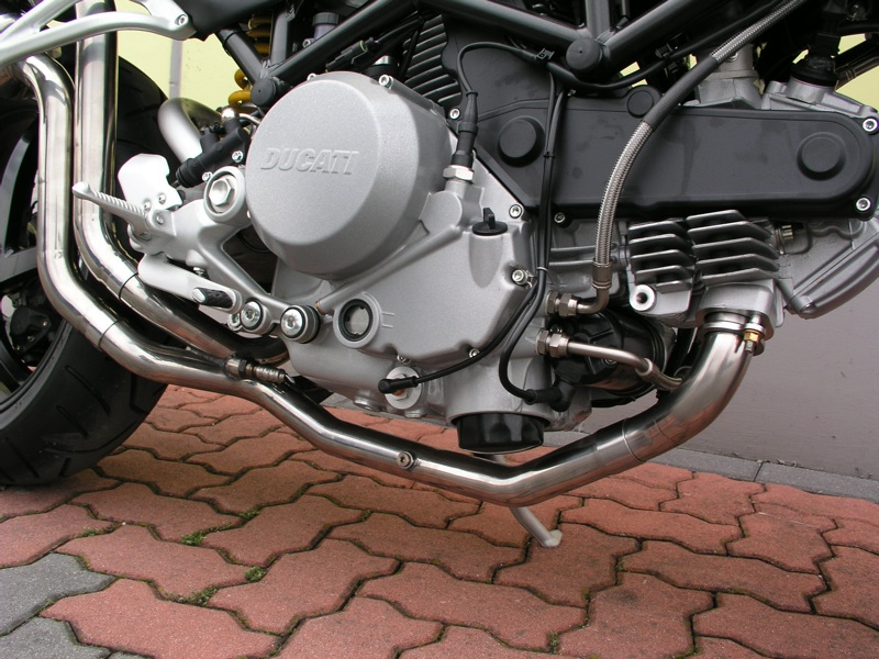 SPARK EXHAUST スパーク マフラー エレクトロポリッシュエキゾーストパイプキャタライザーキャンセラー (Electropolished manifold to remove the catalyst) Monster S2R 800 (07-13)