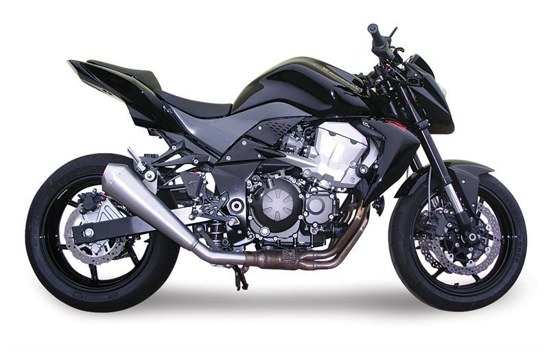 SPARK EXHAUST スパーク マフラー スリップオンマフラー EVO IV シングルコニックマフラー (1 EVO IV conical Silencer) Type:racing Z 750 (07-14)