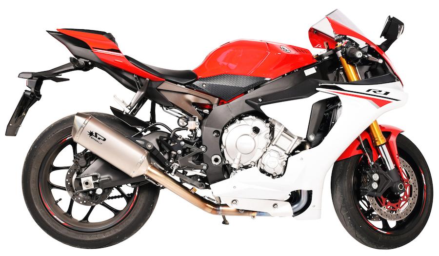 スパーク マフラー FORCE スリップオンマフラー チタンコレクター+ フランジ ステップ固定 (titanium collector + FORCE Slip-On flange to be fixed to rider's footpeg)