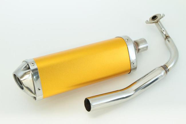 Rin Parts リンパーツ フルエキゾーストマフラー スプレンディッドトライアングルスポーツ カラー:ゴールド ズーマー