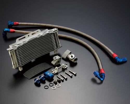ACTIVE アクティブ オイルクーラー本体 ストレートオイルクーラーキット(耐熱ホースカバー) コアカラー:ブラック Z1 Z1000MKII Z2 Z750FX-I