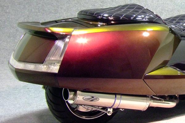 WARRIORZ ウォーリアーズ スクーター外装 マグザム用 リアスポイラー V2(バージョンツー) カラー:マッドブラック(艶消し黒) MAXAM [マグザム] SG17J MAXAM [マグザム] SG21J