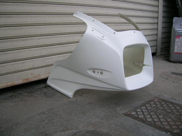 STING R&D スティングアールアンドディー FRP製アッパーカウル カラー:ブラック GPZ1100 空冷車用