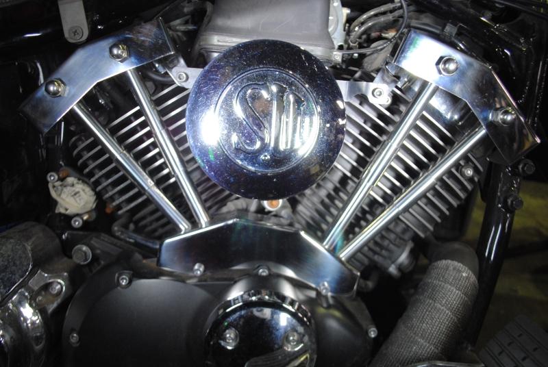 部品屋K&W エンジンカバー SU&ダミープッシュロッドカバーSET ドラッグスター400