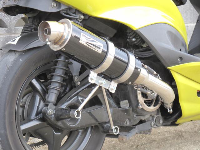 KN企画 ケイエヌキカク フルエキゾーストマフラー ホットラップ タイプ109マフラー タイプ:ブラック シグナスX