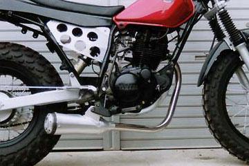RSヨコタ レーシングショップヨコタ フルエキゾーストマフラー RSYスーパートラップ4インチアルミ:TW200E(DG07J)用マフラー TW200 E(DG07J)