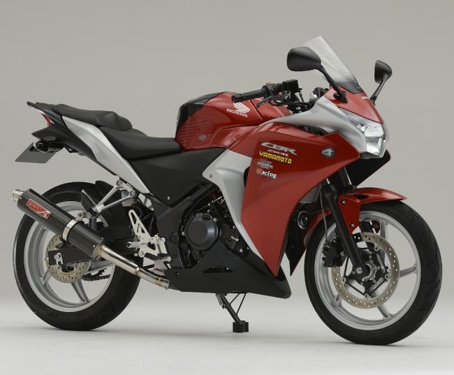 【ポイント5倍開催中!!】【クーポンが使える!】 ヤマモトレーシング YAMAMOTO RACING スリップオンマフラー SPEC-A スリップオン カーボン CBR250R (2011-)