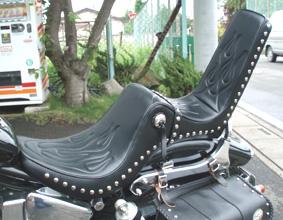 American Dreams アメリカンドリームス ハイバックシート40cm キング&クィーンシートベース ファイヤーパターン サベージ400