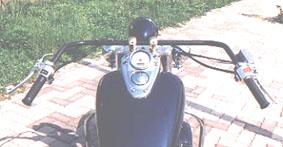 American Dreams アメリカンドリームス 1945年タイプハンドル クロームメッキ シャドウスラッシャー400 シャドウスラッシャー750