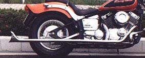 American Dreams アメリカンドリームス フルエキゾーストマフラー 2in1 ストレートフィッシュマフラー(低音タイプ) ドラッグスター400