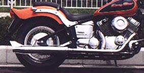 American Dreams アメリカンドリームス フルエキゾーストマフラー 2in1 バズーカフィッシュマフラー ドラッグスター400