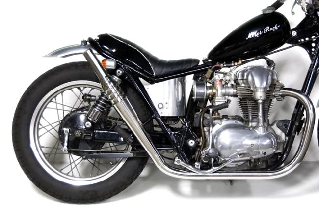 Motor Rock モーターロック フルエキゾーストマフラー 69トランペット フルエキ タイプ:HIGH W400 W650