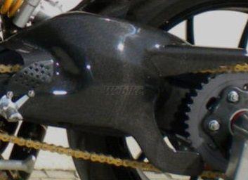 CARBONVANI カーボンバーニ その他外装関連パーツ スイングアームガード クリア塗装:ツヤ無 MONSTER1100
