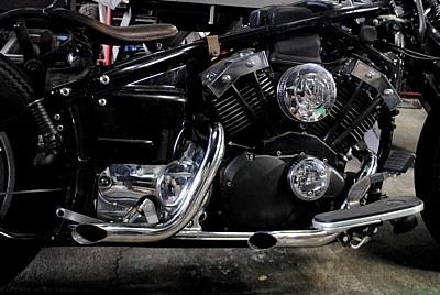 部品屋K&W フルエキゾーストマフラー ショートドラッグパイプマフラー ドラッグスター400