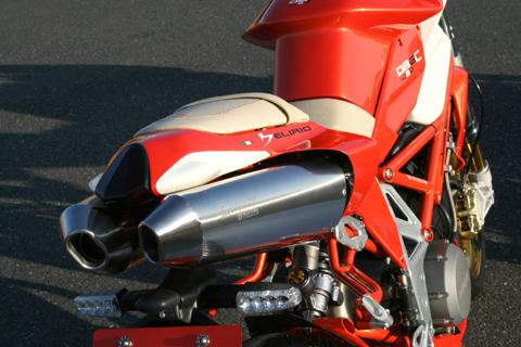 MOTO CORSE モトコルセ Evoluzione [エヴォルツィオーネ] フルエキゾーストマフラー 50.8 ツインサイレンサー DB6