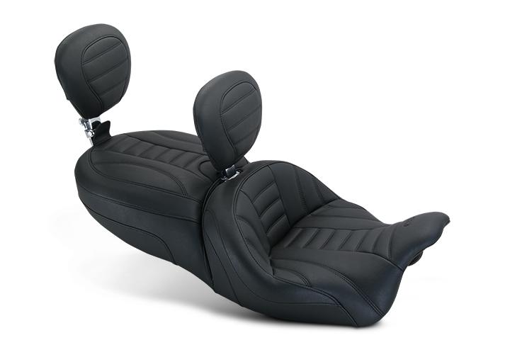 ワンピースヴィンテージツーリング タンデムバックレスト付き (One-piece Vintage Touring with Passenger Backrest)【SEAT FREWLRVINT W/DBR&PBR [0801-0981]】