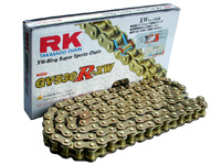 【イベント開催中!】 RK アールケー TAKASAGO CHAIN GVシリーズゴールドチェーン GV530X-XW リンク数:114