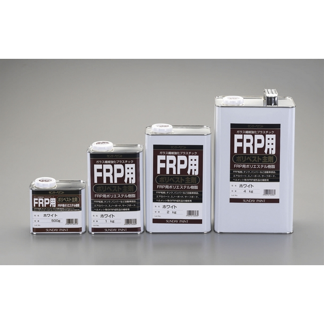 ESCO エスコ 接着剤 4kgFRP用ポリエステル樹脂[主剤/アメ色]