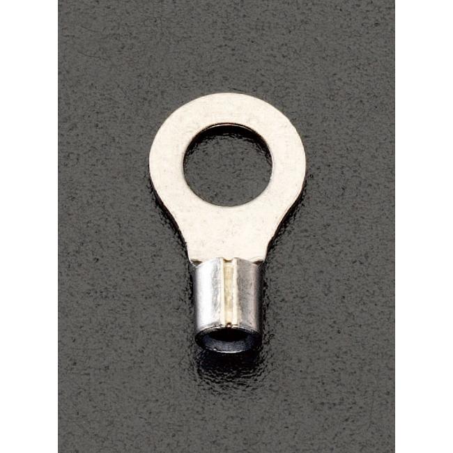 ESCO エスコ 各種配線部材・用品 5.5-5[丸型]耐熱裸圧着端子(100個)