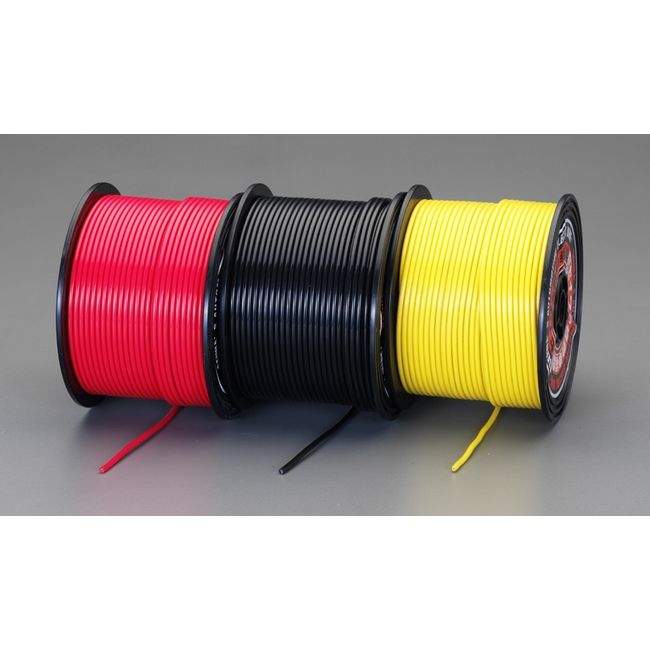 ESCO エスコ 1.25mm2x100m[赤]自動車用コード
