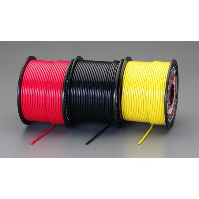 ESCO エスコ 各種配線部材・用品 0.75mm2x100m[黄]自動車用コード