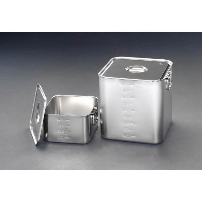 ESCO エスコ 300x300x300mm深型BOX(ステンレス/目盛り付)