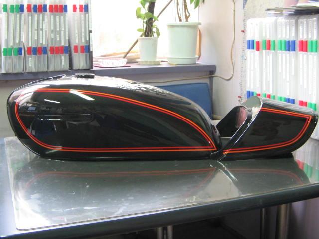 バイクペイント.com Bike Paint.com スプレータイプ塗料 GS400E1(GSII型)輸出 メタリックダークグリーン図面つきウレタン塗料セット 輸出バージョン(サイドカーバー艶消し) GS400