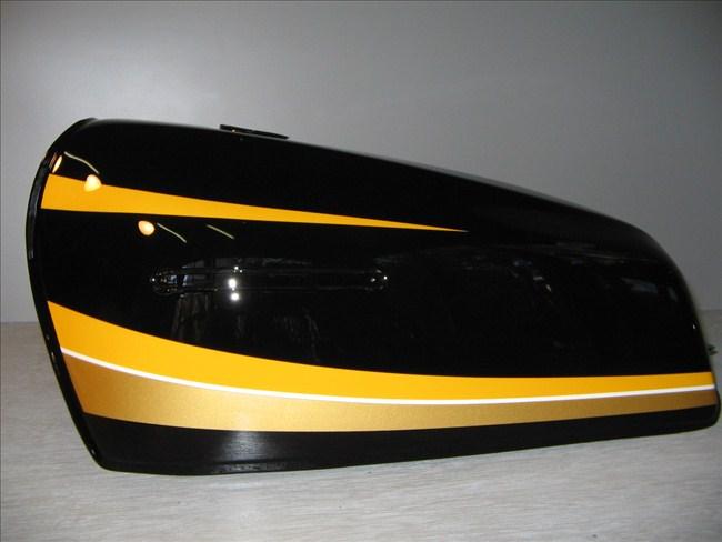 バイクペイント.com Bike Paint.com スプレータイプ塗料 Z400FX タイガーカラー図面つきウレタン塗料セット Z400FX