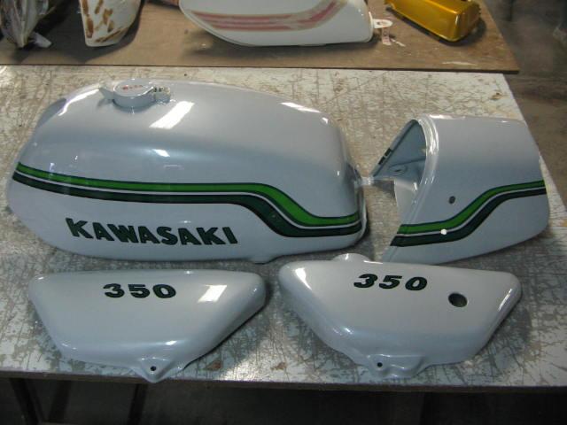 バイクペイント.com Bike Paint.com SS350 ホワイトレインボー図面つき塗料セット SS350