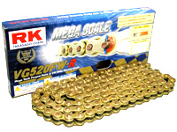RK アールケー TAKASAGO CHAIN VGメガスケールシリーズチェーン VG520FW-R リンク数:140 RZ350 R1WX/W/31K/1JF/1JG