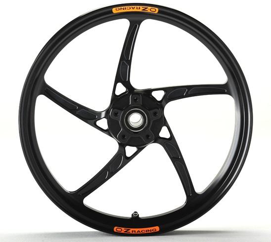 OZレーシング ホイール本体 OZ-5S PIEGA アルミ鍛造ホイール カラー:ブラックアルマイト 1199Panigale 1299Panigale