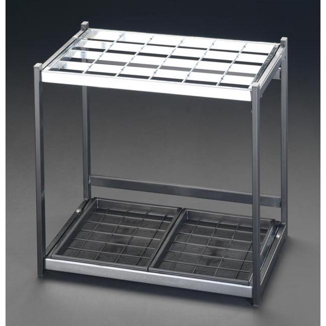 ESCO エスコ その他、工具箱(収納) 996x366x500mm/48本用[折り畳式]傘立て