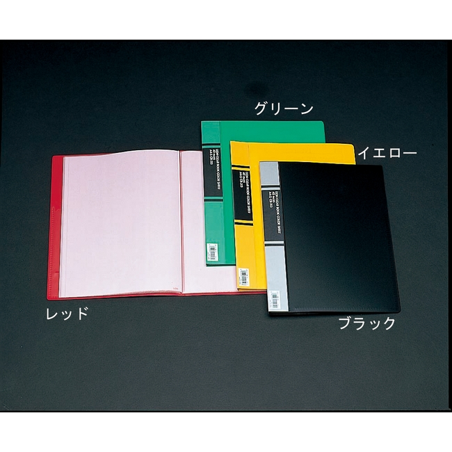 ESCO エスコ 文具・筆記具・備品 クリアーブック(黒/10冊)