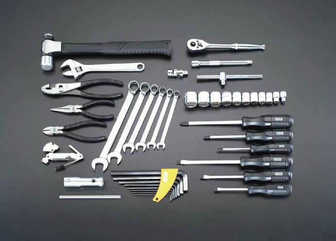ESCO エスコ セット工具 44個組整備用工具セット