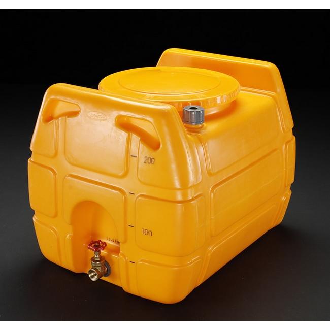 ESCO エスコ 500Lポリエチレン給水容器(バルブ付)