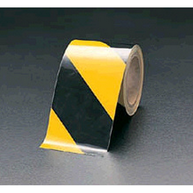 ESCO エスコ 100mm粗面用反射トラテープ[黒/黄]