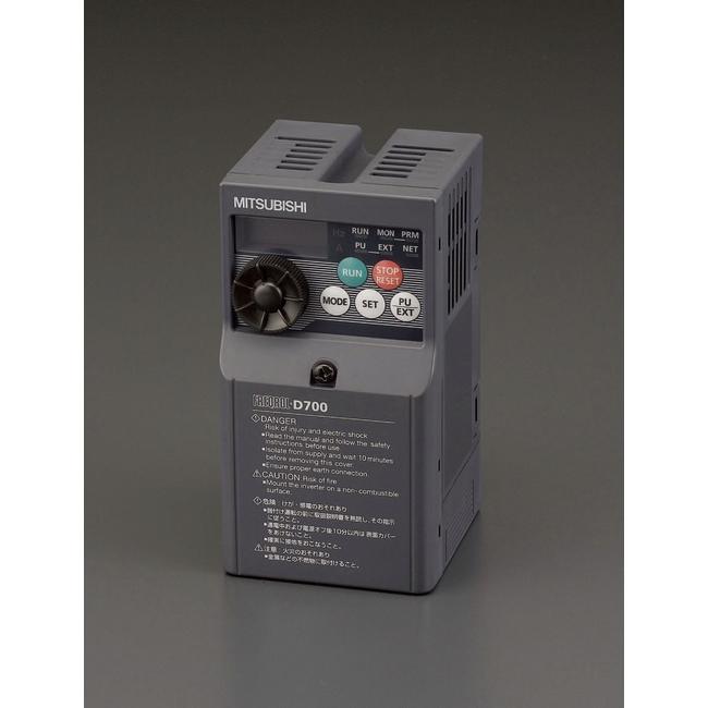 ESCO エスコ 100V/0.75kwインバーター(単相モーター制御用)