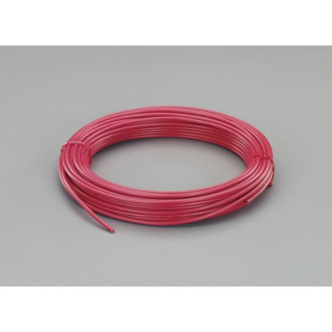 工具 ESCO エスコ EA940AN-121A  ESCO エスコ 配線関連 1.25mm2x50mビニール絶縁電線[KIV](赤)