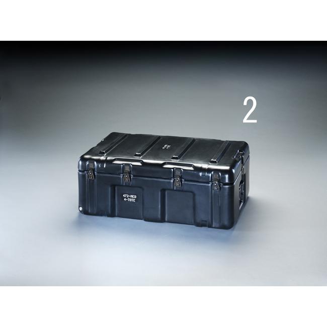 ESCO エスコ 736x457x274mmストレージケース(トレー付/黒)