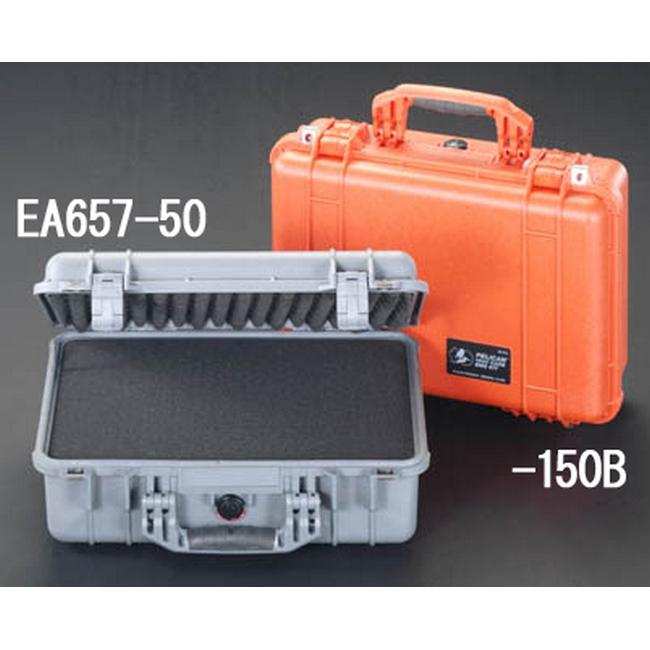 ESCO エスコ 425x280x150mm/内寸万能防水ケース(橙)