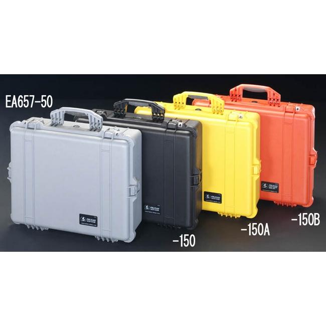 ESCO エスコ その他、工具箱(収納) 425x280x150mm/内寸万能防水ケース(黒)