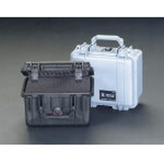 ESCO エスコ その他、工具箱(収納) 240x188x163mm/内寸万能防水ケース(黒)