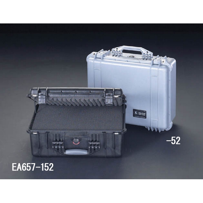 ESCO エスコ 455x325x170mm/内寸万能防水ケース(シルバー)