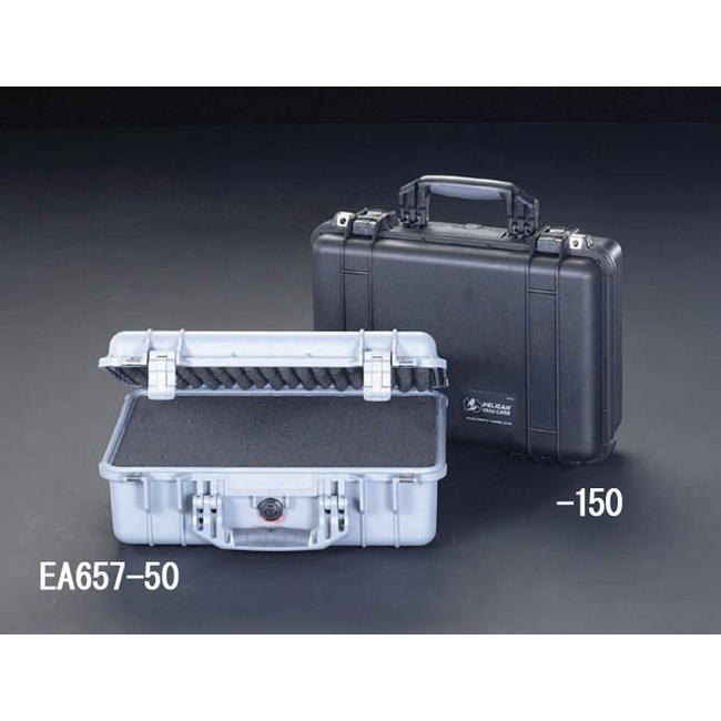 ESCO エスコ その他、工具箱(収納) 425x280x150mm/内寸万能防水ケース(シルバー)