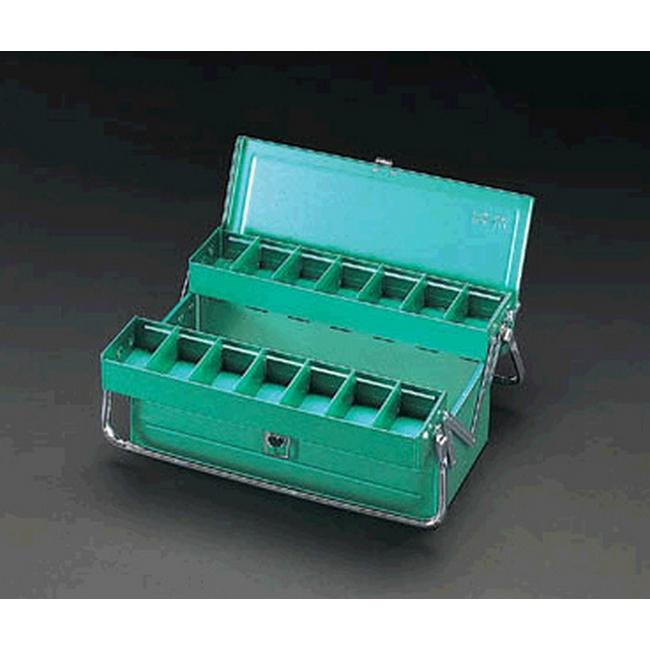ESCO エスコ 470x200x180mm工具箱(スチール製)