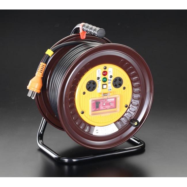 ESCO エスコ その他、配線用ツール 三相200Vx30m電工ドラム[過負荷漏電遮断器付]