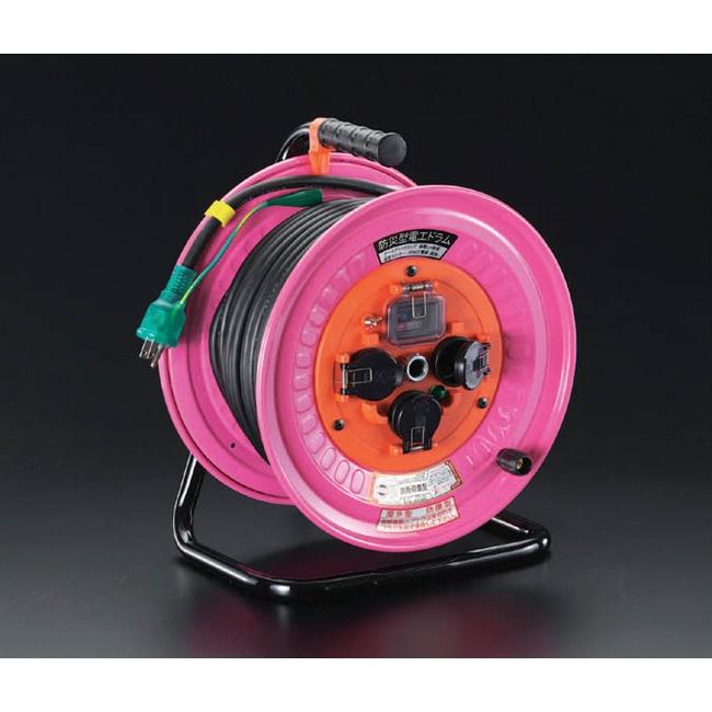 ESCO エスコ その他、配線用ツール 100Vx30m[防雨/防災型]電工ドラム